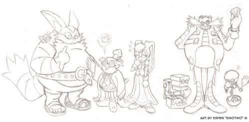 Sonic characters 2nd line-up draft by emotwo