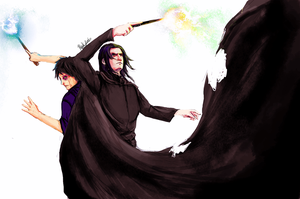 Over Snape's Death Body by Blackfont