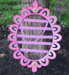 Hand Painted hair bow holder 2 by Rilrea