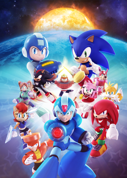 Official - Sonic Universe #76 Variant Cover by Elesis-Knight