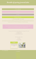 Breath of spring journal skin by UszatyArbuz