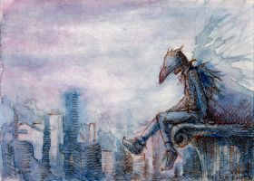 City and Crow by emera