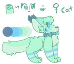 Minty Cucumber Mist (custom Commission) by ChristyPaws