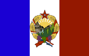 Peoples Republic of France Flag. by RedAmerican1945