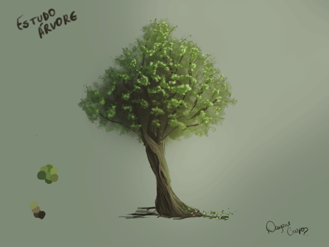 Studying Trees Painting by gatadaay
