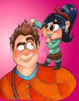 WIR-Ralph and Vanellope by ChaoticColorStudio