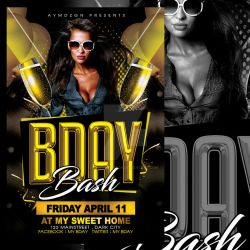 romecreation 1 0 bday bash flyer template by ayumadesign