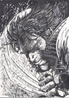 wolverin bloody by dahloos