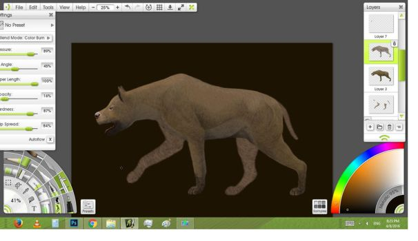 Workspace:Shading the fur,basic colors by Leogon