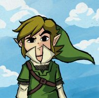Skyward Sword Link in WW Style by undermate2005
