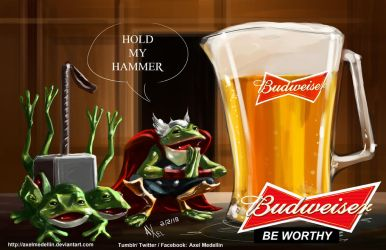 TLIID 377. This Bud's for Frog Thor by AxelMedellin