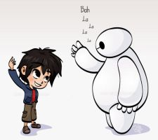 Hiro and Baymax - Fist Bump by Malycia