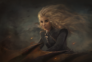 Fire and blood by IndI-Art