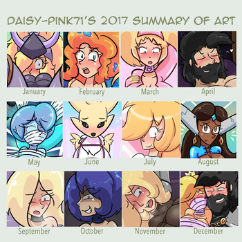 Daisy's 2017 Art Summary by Daisy-Pink71