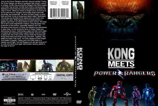 Kong meets Power Rangers DVD cover by SteveIrwinFan96