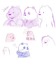 We Bare Bears Sketches! by Cassidyna