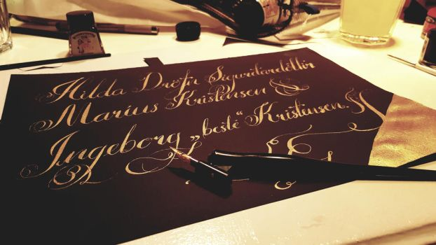 Gold Calligraphy  by johannesmar