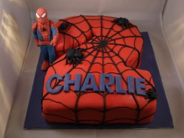 Spiderman Cake by sparks1992