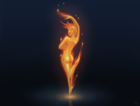 Dancing Flame by ZephyrXenonymous