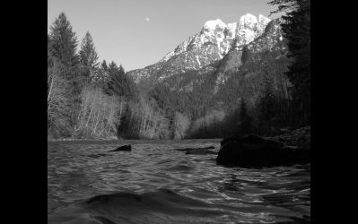 River mountains and moon. by Cobra740
