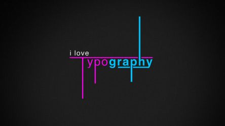 i love typograpghy by JusticeBleeds