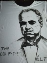 The Godfather.on T-shirt by AlanisTea