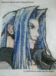 Dissidia Sephiroth Cross Stitch Project by guineapiggin