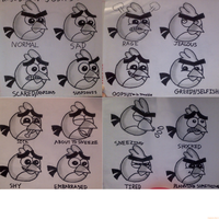 Josh's Facial Expressions with shading by Mario1998