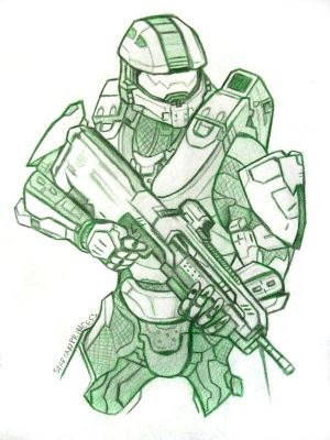 Master Chief John 117 by SpartanB214