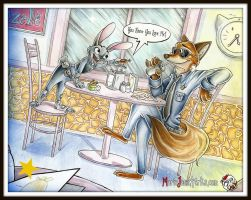 Zootopia ~ Traditional by MarieJaneWorks
