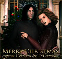 Merry Christmas from Severus and Hermione by deslea