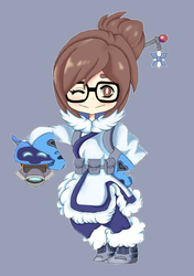 Mei and snowball by GenocideJackie