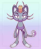 Alolan Meowth by ChainChomped