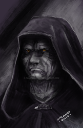 Darth Sidious sketch by Flashmanya