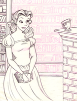 Belle in the Library by snow-white-kt
