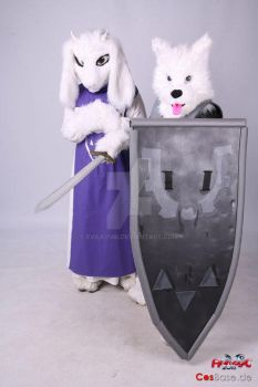 AnimagiC 2016: Toriel and Lesser Dog by Evilkyubi