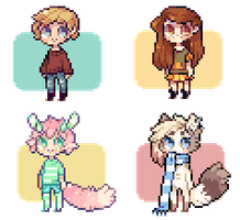 Pixel Icon Commishes 6 by Sergle