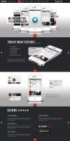 Rocking Parallax iPhone App Showcase WP by wpthemes