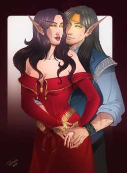Express couples #1: Freyian and Vivianne by SicilianValkyrie