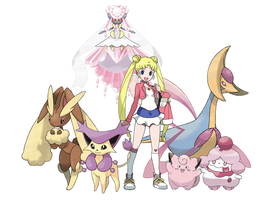 Usagi Tsukino Pokemon Team
