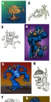 Name my monsters Part 3 by hawanja