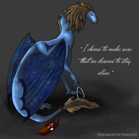 Abby Griffin as a Dragon by DreamerTheTimeLady