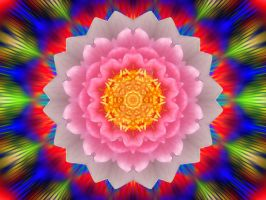 Layered Lotus rainbowstar by Eternatease