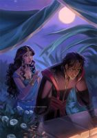commission: Abyssiana and Kaveh by mariposa-nocturna