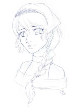 Nameless Girl WIP by TheCatlady