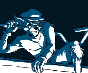 Sly Cooper speedpaint by Psycho-Gaze