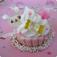 pink and yellow bunny candy by CatNapCaps