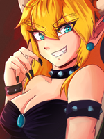 Bowsette! by genericbunnygirl