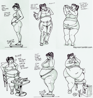 The Weight Gain of Jenny Weng, pt 1 by Ray-Norr