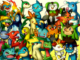 All Starters Pokemon 2 Stage